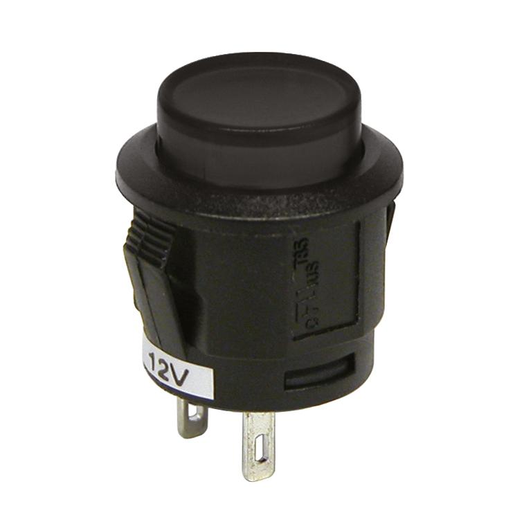 Intrerupator tip buton cu revenire Negru 12V 20A - Resigilat
