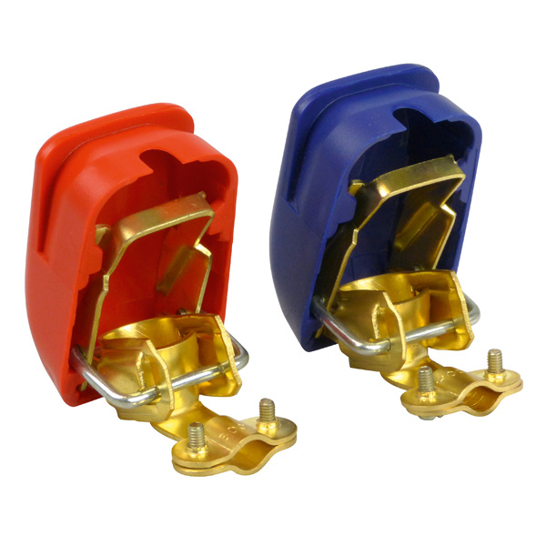 Borne acumulator cu cuplare rapida 800W Carpoint 2buc - Rosu/Albastru