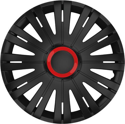Capace roti auto Active RR 4buc - Negru/Rosu - 15'