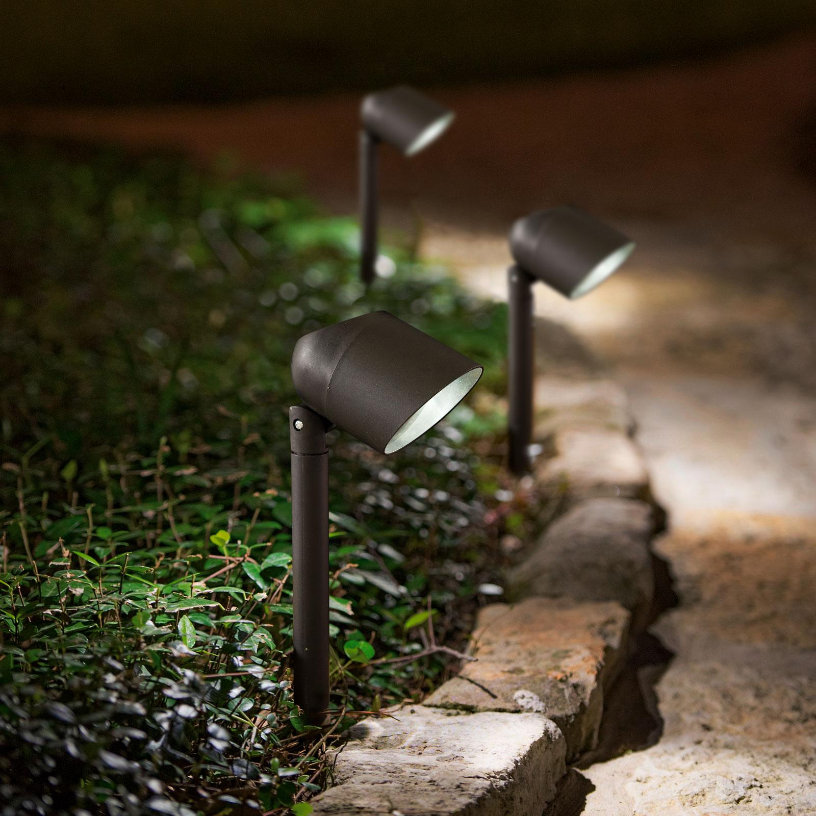 Lampa solară LED cu difuzor de lumina - negru - 410 mm