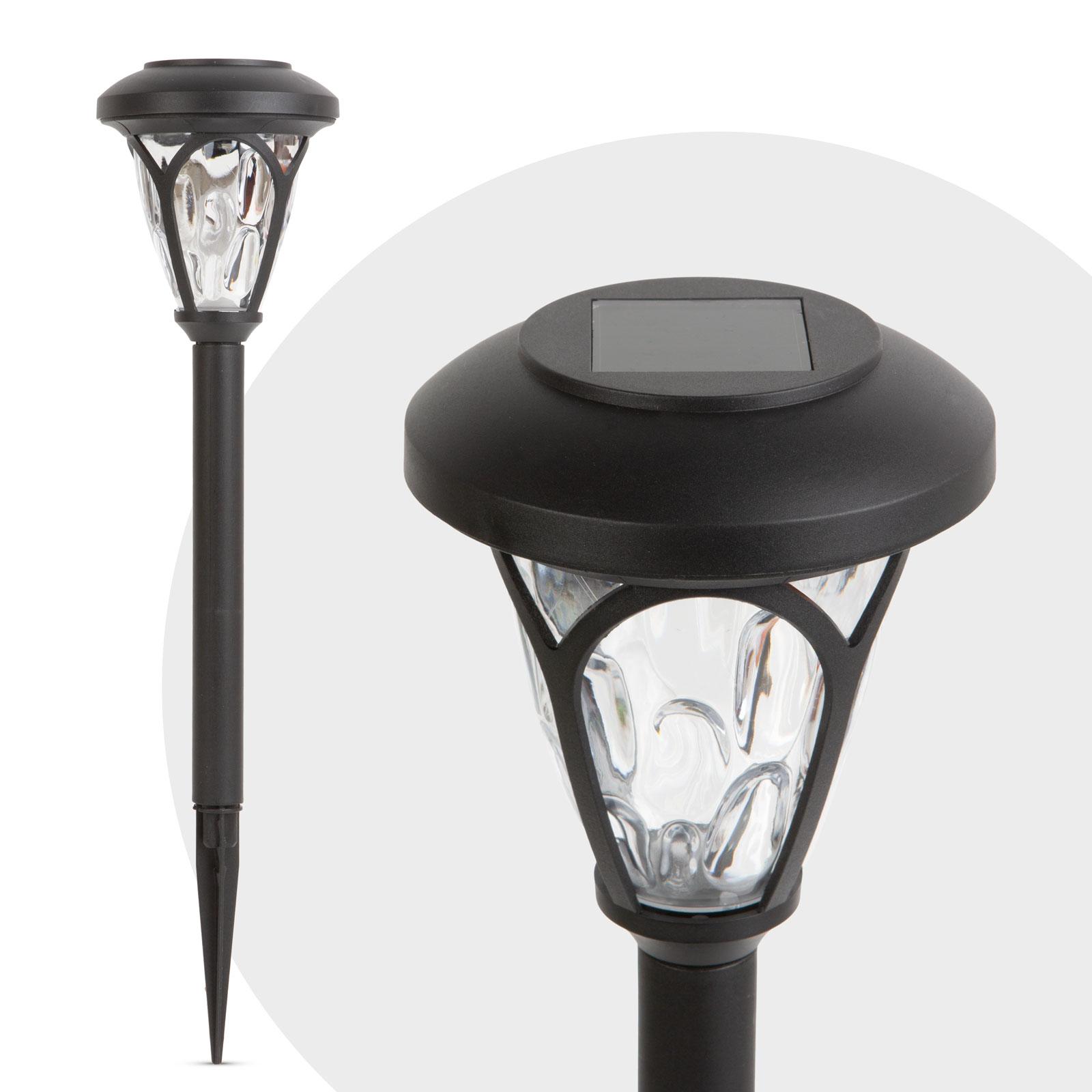 Lampa solara LED cu plexiglas modelat - negru - 400 mm