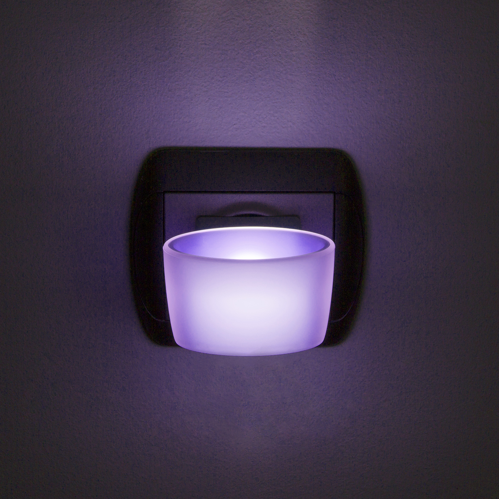 Lumina de veghe LED cu senzor tactil - violet