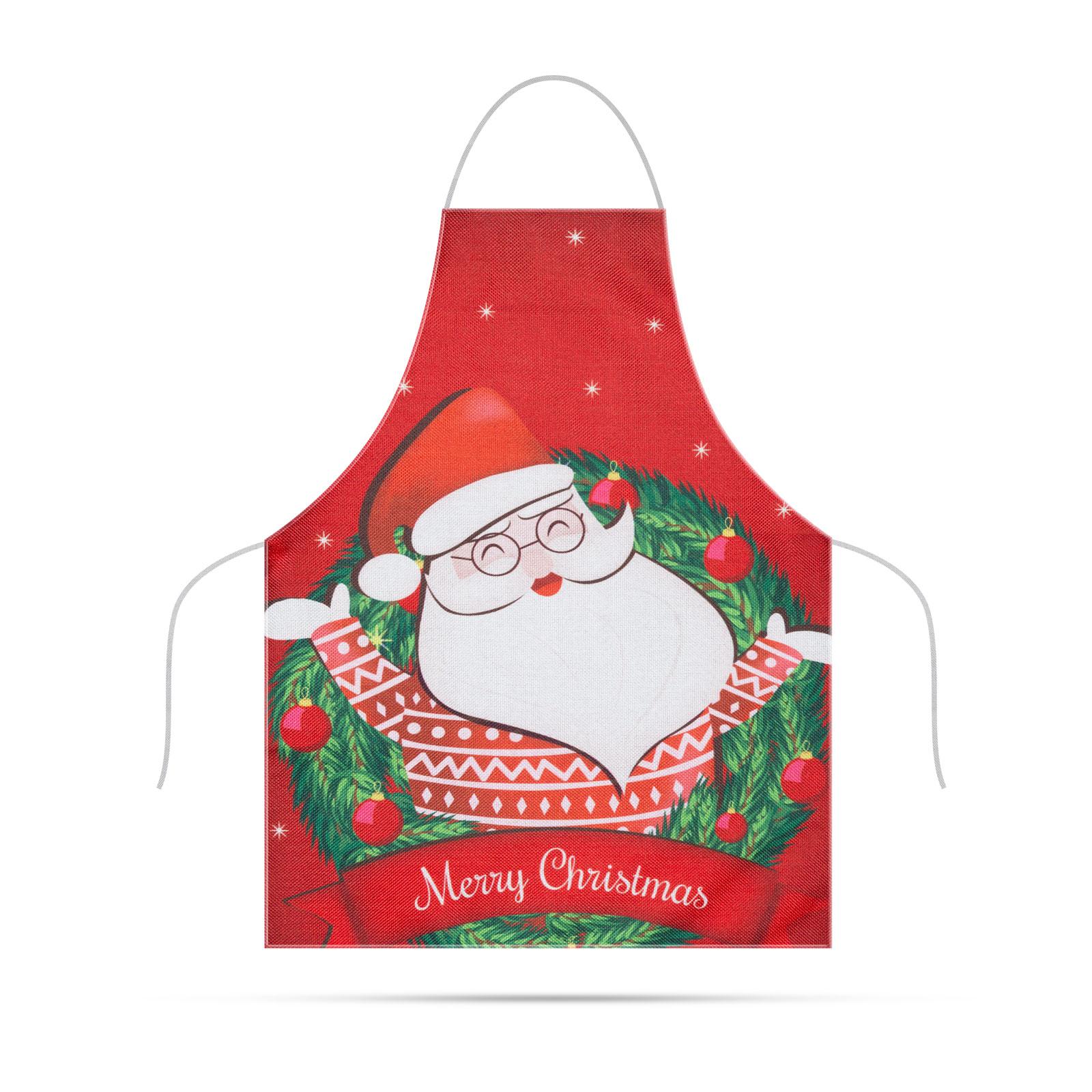 Șorț - Crăciun - pentru copii - 47 x 40 cm - roșu
