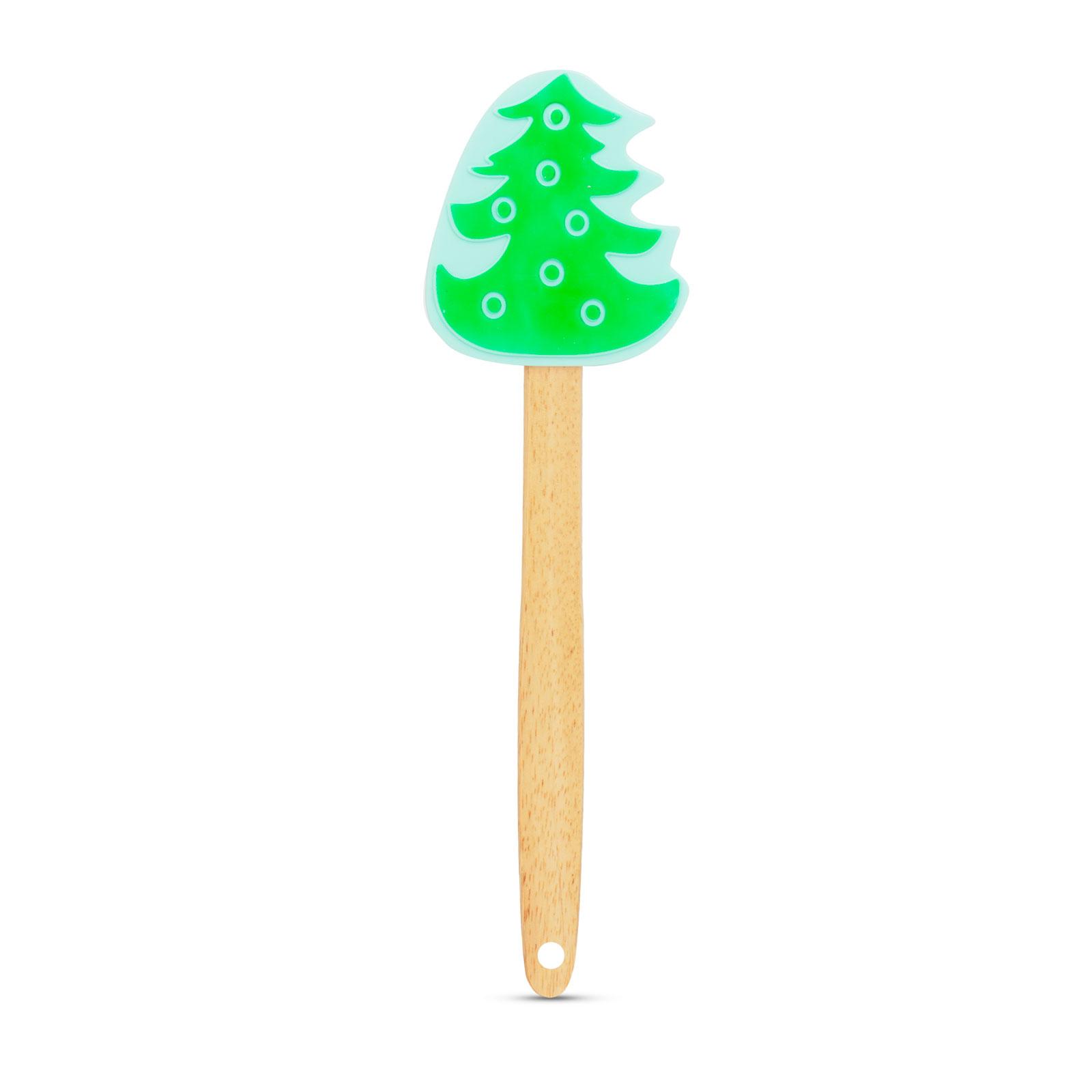 Spatulă din silicon - pom de Crăciun - 29 x 7,6 cm