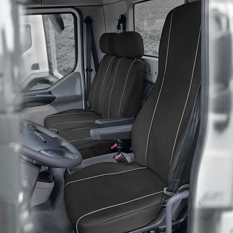 Huse scaun camion dedicate DAF LF set 1+2 locuri - Negru/Gri