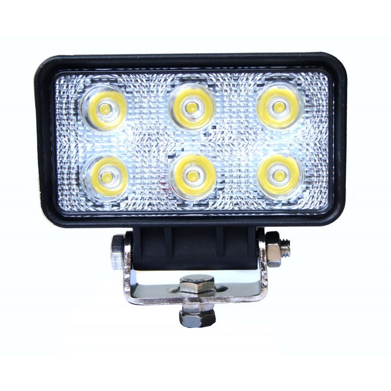 Proiector cu LED din metal dreptunghiular 18W 12/24V Kamar