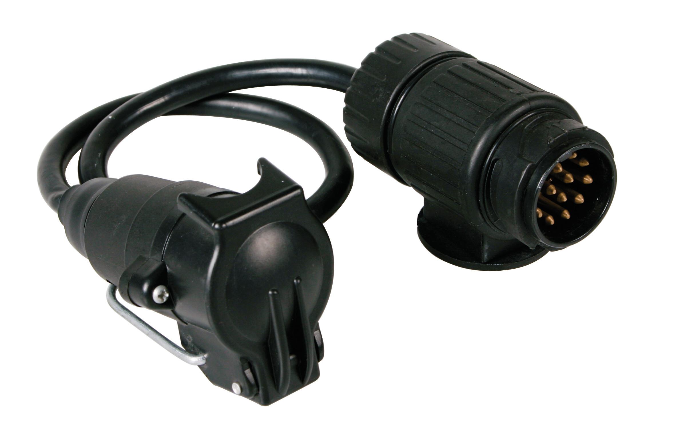 Adaptor fisa priza remorca 13-7 poli cu cablu 40cm - Resigilat
