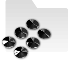 Ornamente 3D crom decor kit