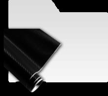 Autocolante 3D fibra carbon