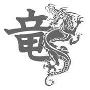 Autocolant Dragon ch. let. 1buc 34x32,5cm - Argintiu