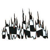 Autocolant Burning flag 1buc 49x34cm - Portocaliu