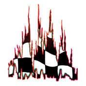 Autocolant Burning flag 1buc 67x49cm - Rosu