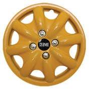 Capace roti auto Cosmo Color 4buc - Galben - 14''