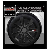 Capace roti auto GTX Carbon BL 4buc - Negru - 15''