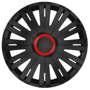 Wheel covers Active RR 4pcs - Black/Red - 15''