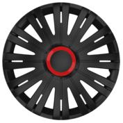 Capace roti auto Active RR 4buc - Negru/Rosu - 15''