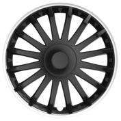 Capace roti auto Crystal SO BL 4buc - Negru/Argintiu - 15''