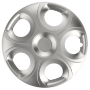 Capace roti auto Matrix 4buc - Argintiu - 15''