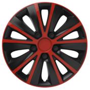 Capace roti auto Rapide RB 4buc - Rosu/Negru - 14''