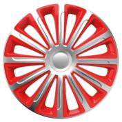 Capace roti auto Trend SR 4buc - Argintiu/Rosu - 14''
