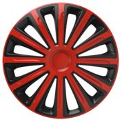 Capace roti auto Trend RB 4buc - Rosu/Negru - 15''