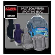 Husa scaun Sporting cu suport lombar 1buc - Negru