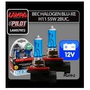 Bec halogen Blu-Xe  H11 55W PGJ19-2 12V 2buc