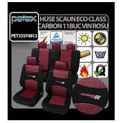 Huse scaun Eco Class Carbon set 11buc - Vin Rosu