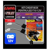 Kit anulare avertizare bec ars, LED - T10 - 12V ( Cheat-Box )