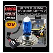 Kit becuri H7 100W 12V Xenium Race 2buc + Pachet bonus