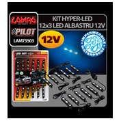 Kit Hyper-Led 12x3 Led 12V Albastru