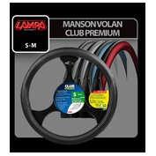 Husa volan Club Premium - M - Ø 37/39cm - Negru