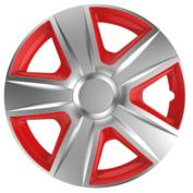 Capace roti auto Esprit SR 4buc - Argintiu/Rosu - 14''