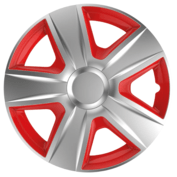 Capace roti auto Esprit SR 4buc - Argintiu/Rosu - 16''