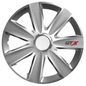 Capace roti auto GTX Carbon 4buc - Argintiu - 16''