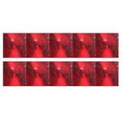 Autocolant reflectorizant metalizat 2buc 6x23cm - Rosu