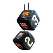 Ornament interior zaruri FC Barcelona 7x7cm - Negru