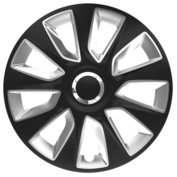 Capace roti auto Stratos RC 4buc - Negru/Argintiu - 15''