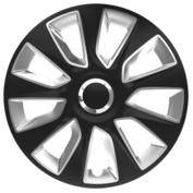 Capace roti auto Stratos RC 4buc - Negru/Argintiu - 17''