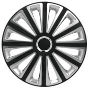 Capace roti auto Trend RC 4buc - Negru/Argintiu - 15''